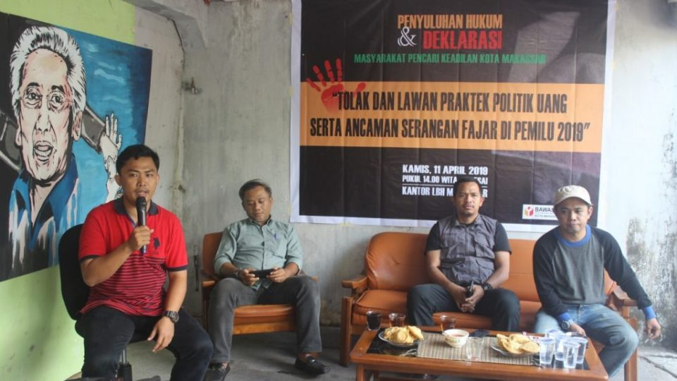 LBH Makassar – Tolak Money Politic