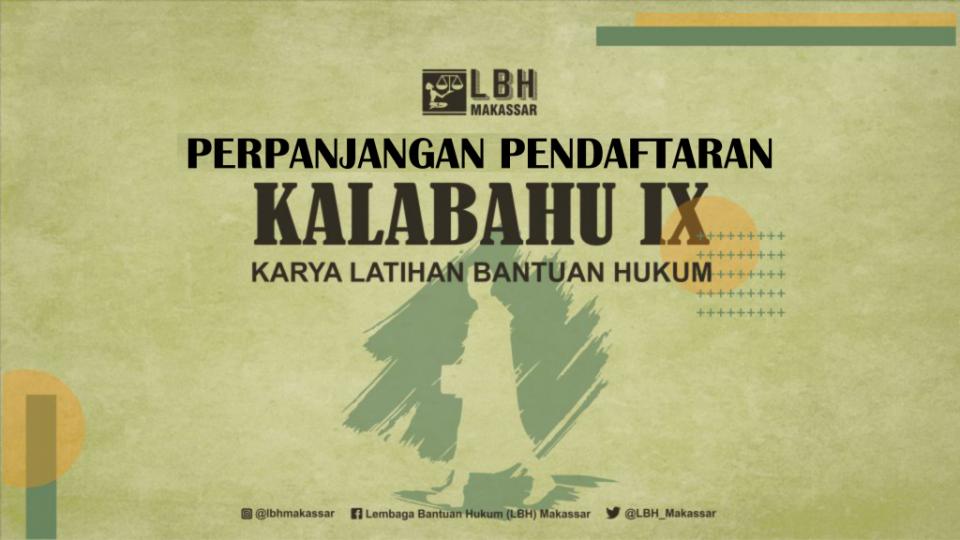 PERPANJANGAN PENDAFTARAN KALABAHU IX
